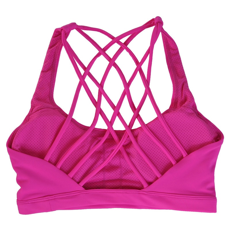 Women's Push Up Sports Bra with Open Back